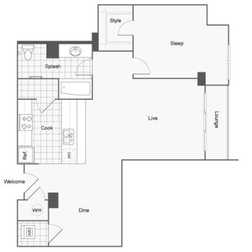 Floor Plan 6 | Student Apartments Atlanta | Dwell ATL