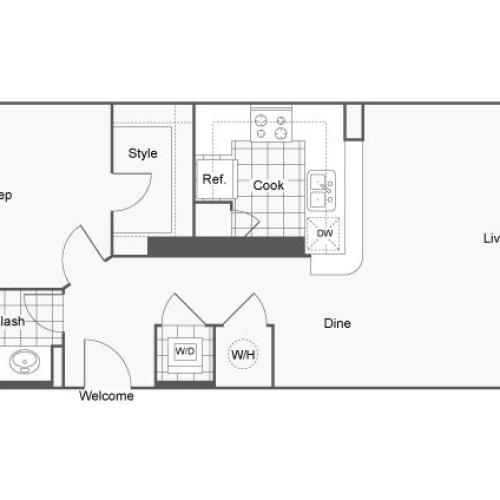 Floor Plan 7 | Apartments Near GSU | Dwell ATL