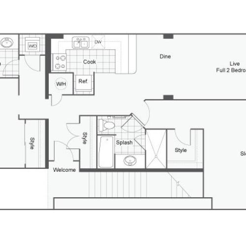 Floor Plan 24 | GSU Off Campus Housing | Dwell ATL