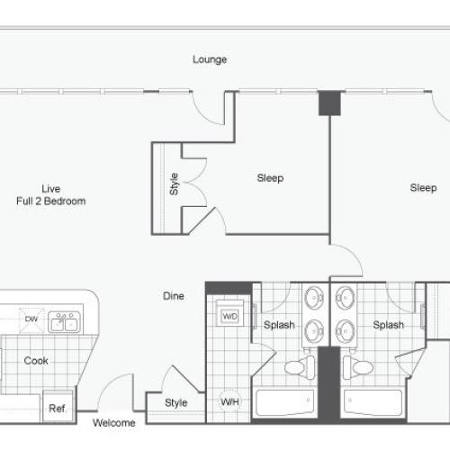 Floor Plan 39 | GSU Off Campus Housing | Dwell ATL