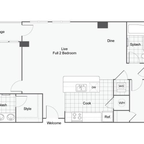 Floor Plan 9 | GSU Off Campus Housing | Dwell ATL