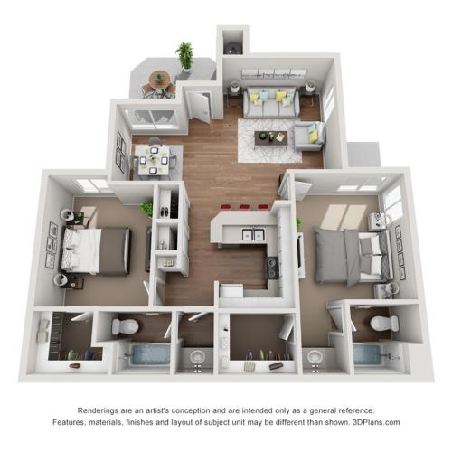 Renew at The Shops | Two Bedroom Floorplan