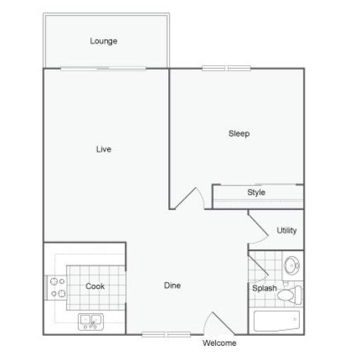 Floor Plan 2 | Apartments In Port Orchard WA | The Clubhouse at Port Orchard