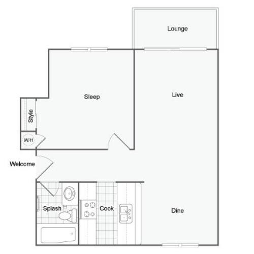 Floor Plan 3 | Apartments In Port Orchard | The Clubhouse at Port Orchard