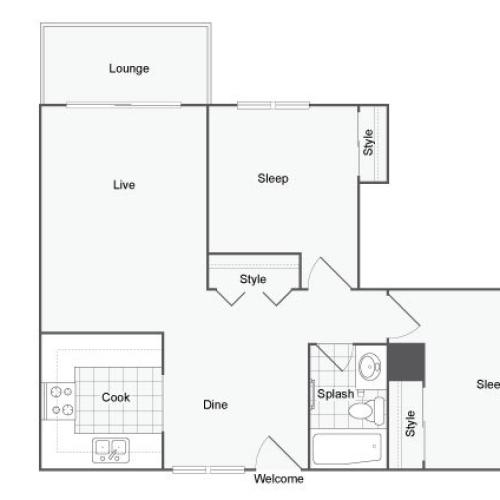 Floor Plan 6 | Port Orchard Washington Apartments | The Clubhouse at Port Orchard