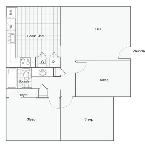 Floor Plan 7 | Apartments In Port Orchard WA | The Clubhouse at Port Orchard