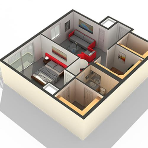 Bedroom Floor Plan | Apartments In Highwood IL | Arrive North Shore