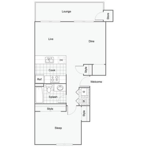 The BelAire Apartment Homes Apartment Homes for Rent in Rancho Cucamonga CA 91730 Floor Plan