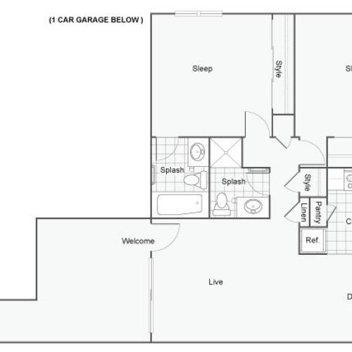 ReNew Redlands Apartment Homes for Rent in Redlands CA 92374 Floor Plan