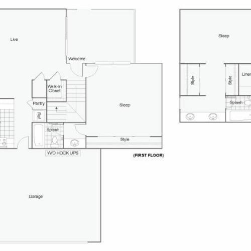 ReNew Redlands Apartment Homes for Rent in Redlands CA 92374 Floor Plan
