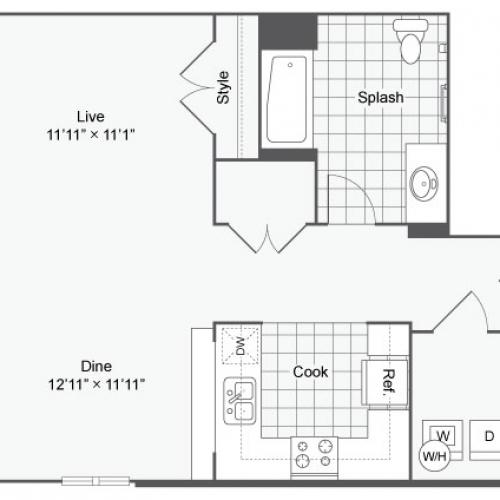 Floor Plan 10 | Apartments In Alamo Heights San Antonio | Arrive Eilan