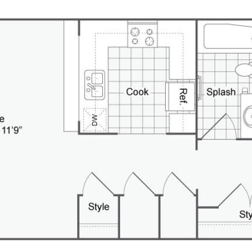 Floor Plan 13 | Alamo Heights Luxury Apartments | Arrive Eilan