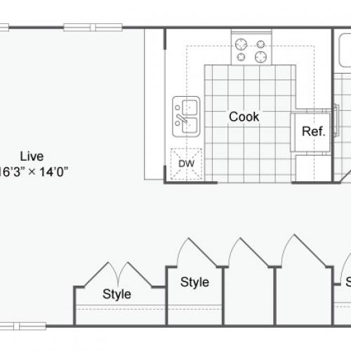 Floor Plan 16 | Apartments In Alamo Heights San Antonio | Arrive Eilan