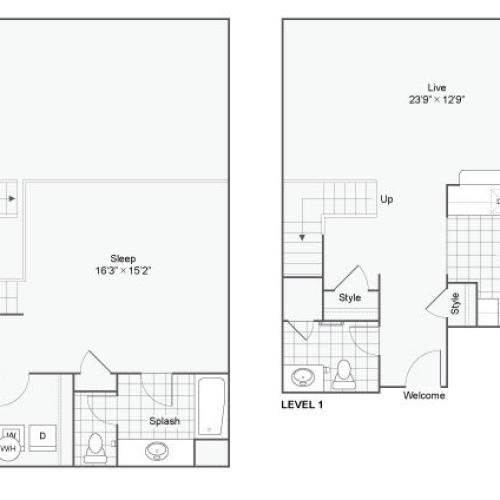 Floor Plan 17 | Studio Apartments In San Antonio | Arrive Eilan