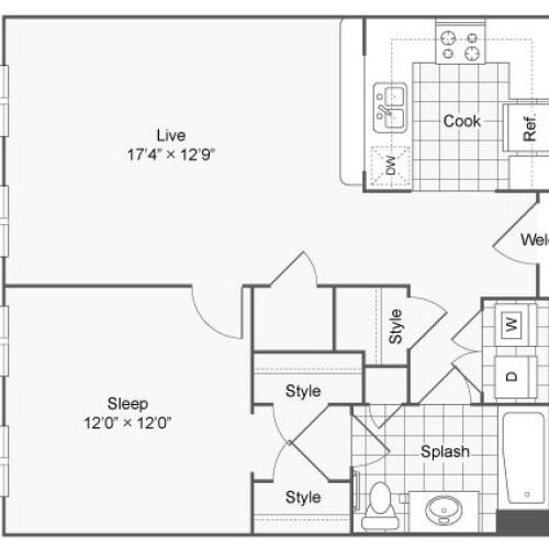 Floor Plan 18 | Alamo Heights Luxury Apartments | Arrive Eilan