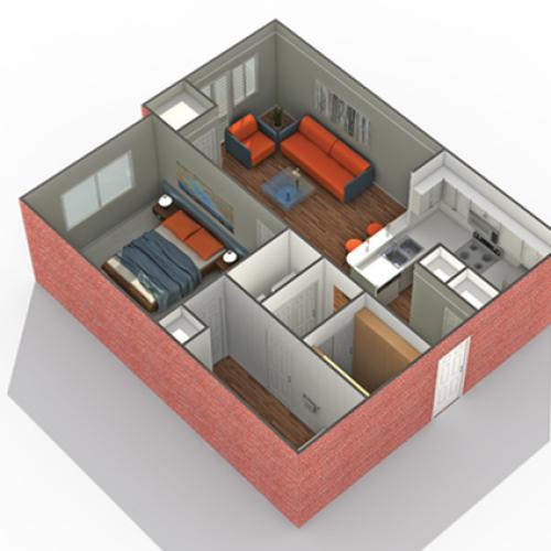 1 Bdrm Floor Plan | Luxury Apartments Minneapolis MN | Arrive Watertower