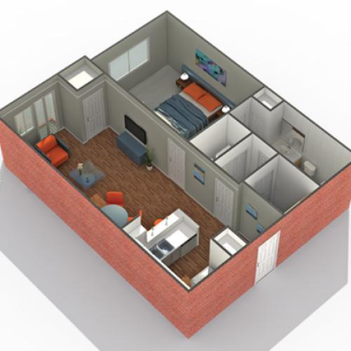 Floor Plan 4 | Luxury Apartments In Edina MN | Arrive Watertower