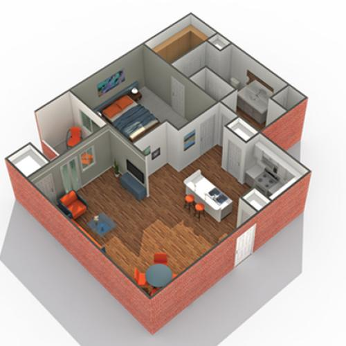 Floor Plan 13 | Eden Prairie Apartments MN | Arrive Watertower