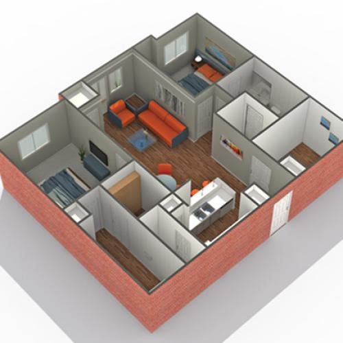 2 Bdrm Floor Plan | Luxury Apartments In Edina MN | Arrive Watertower