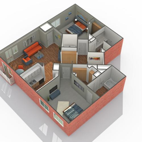 Floor Plan 16 | Eden Prairie Luxury Apartments | Arrive Watertower