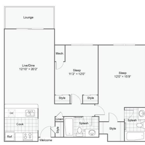 Floor Plan 4 | Luxury Apartments Alexandria VA | Arrive Alexandria