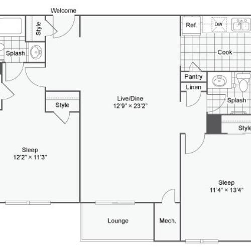 Floor Plan 5 | Luxury Apartments In Alexandria VA | Arrive Alexandria