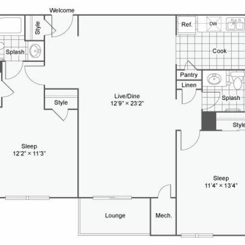Floor Plan 5 | Luxury Apartments In Alexandria VA | Arrive Alexandria