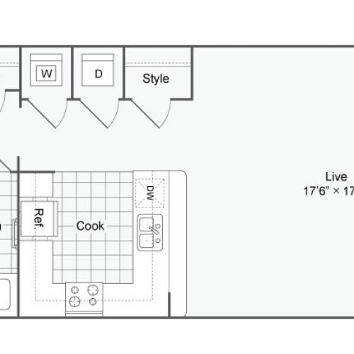 Floor Plan 21 | Alamo Apartments San Antonio TX | Arrive Eilan