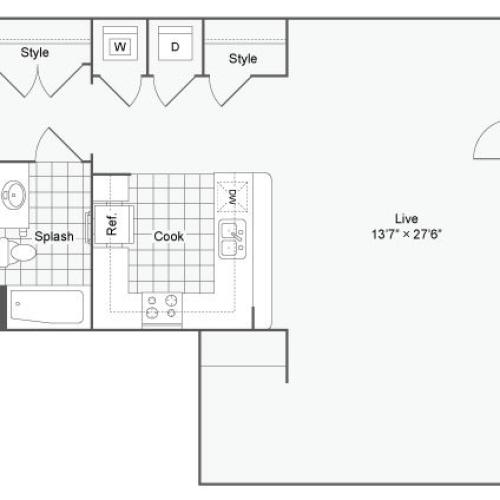 Floor Plan 23 | Alamo Apartments San Antonio TX | Arrive Eilan
