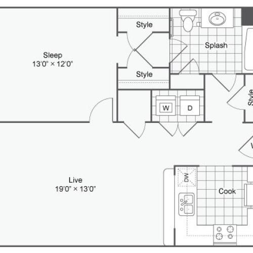 Floor Plan 26 | Alamo Apartments San Antonio TX | Arrive Eilan