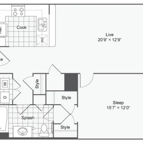 Floor Plan 27 | | Alamo Apartments San Antonio TX | Arrive Eilan