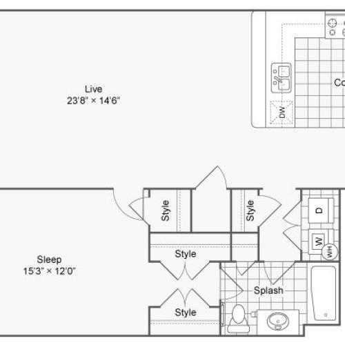 Floor Plan Image| Alamo Apartments San Antonio TX | Arrive Eilan