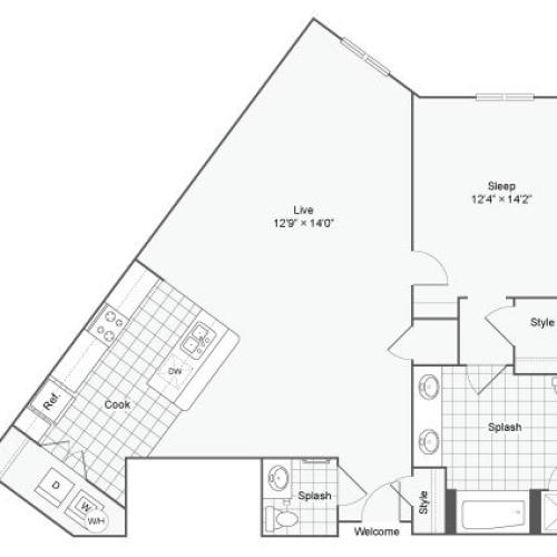 Floor Plan 43| Alamo Apartments San Antonio TX | Arrive Eilan