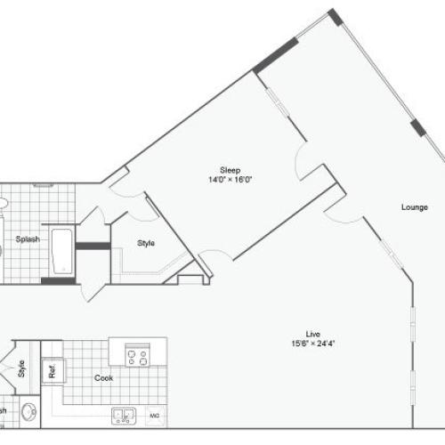 Floor Plan 45| Alamo Apartments San Antonio TX | Arrive Eilan