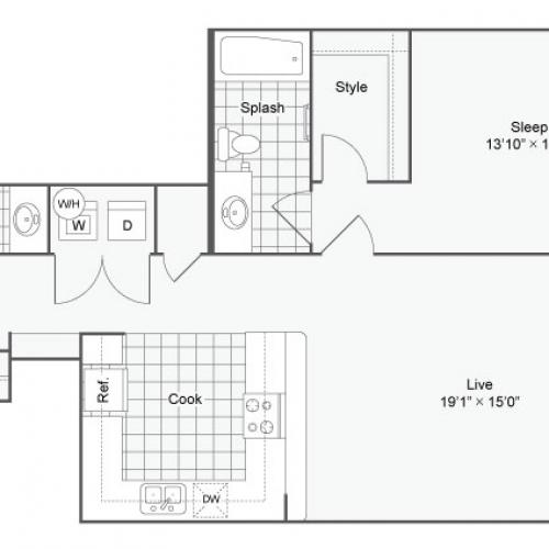 Floor Plan 48| Alamo Apartments San Antonio TX | Arrive Eilan