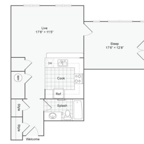 Floor Plan 51| Alamo Apartments San Antonio TX | Arrive Eilan