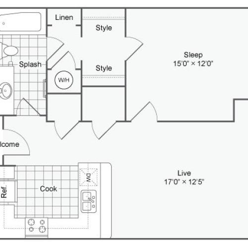 Floor Plan 67| Alamo Apartments San Antonio TX | Arrive Eilan