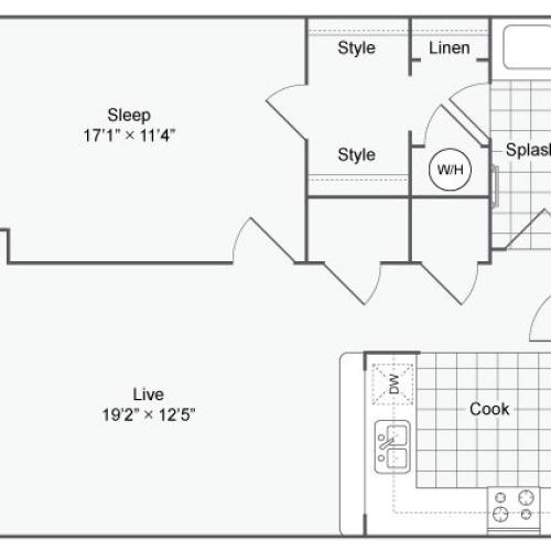 Floor Plan 69| Alamo Apartments San Antonio TX | Arrive Eilan