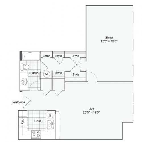 Floor Plan71| Alamo Apartments San Antonio TX | Arrive Eilan