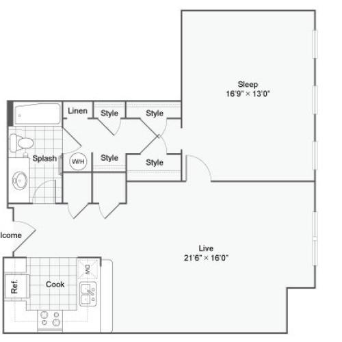 Floor Plan 72| Alamo Apartments San Antonio TX | Arrive Eilan
