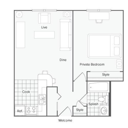 The Tower at Morgan Hill Apartment Homes for Rent in Knoxville TN 37919 Floor Plan