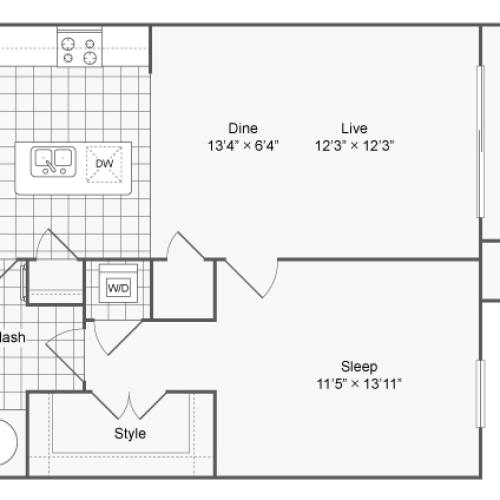 Floor Plan | Luxury Apartments In Brookhaven GA | The Mille Brookhaven Apartment Homes