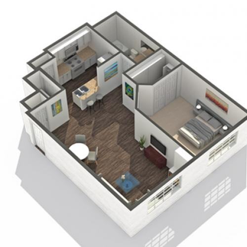 1 Bedroom Floor Plan | Pet Friendly Apartments In Scottsdale AZ | Arrive North Scottsdale