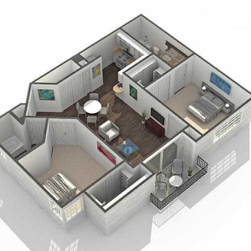 2 Bedroom Floor Plan | Luxury Apartments In Scottsdale AZ | Arrive North Scottsdale