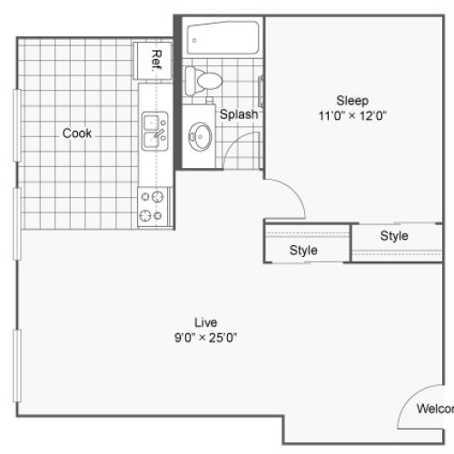 Floor Plan 5 | Apartments In Denver Colorado | Renew on Stout
