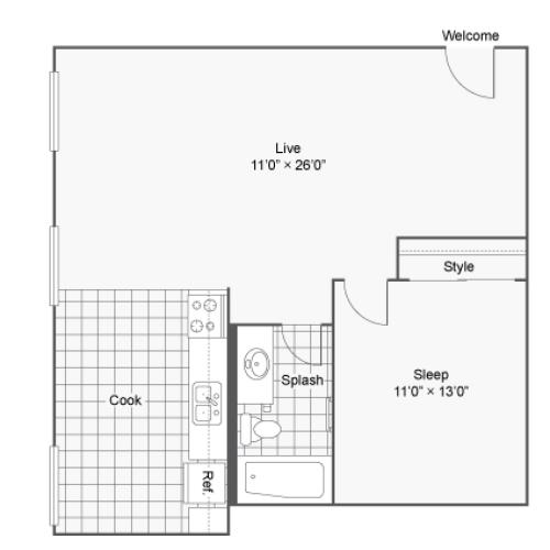 Floor Plan 6 | Apartments In Denver Colorado | Renew on Stout