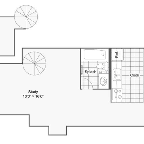 Floor Plan 7 | 2 Bedroom Apartments Denver | Renew on Stout