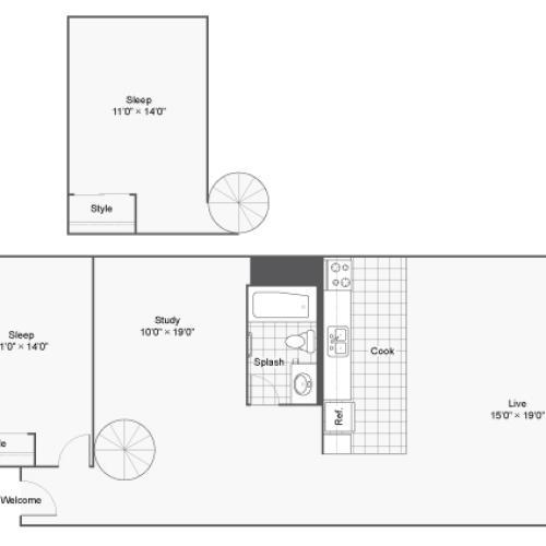 Floor Plan 10 | Apartments In Denver Colorado | Renew on Stout