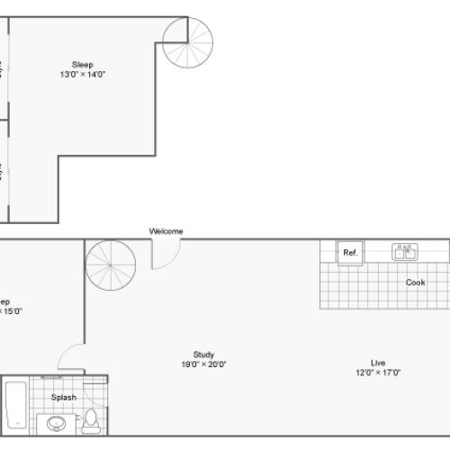 Floor Plan 11 | Apartments In Denver Colorado | Renew on Stout