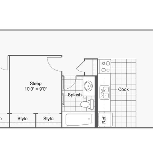 Floor Plan 19 | Apartments In Denver | Renew on Stout